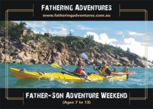 Sea kayaking is an integral part of the Father/Son weekend experience