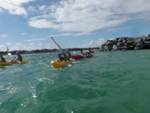 Driving against the current at Wave Break Island