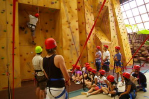 The climbing wall at QCCC Mapleton