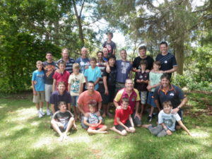 Participants on the first QCCC Father-Son camp
