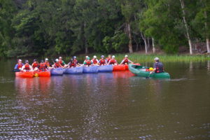 Canoeing is a popular activity with most groups.